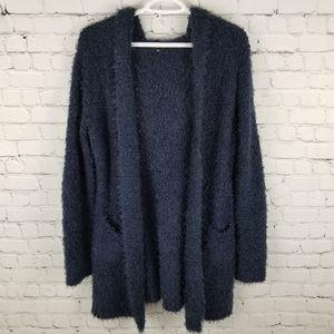 JULI | fluffy boucle/eyelash knit open cardigan